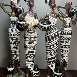 Home Decor: Rare African Women Figurines. All Four Age Different In Style. for Sale in Hialeah, FL