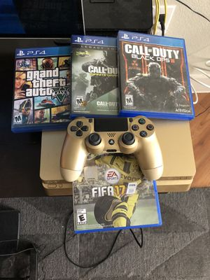 Ps4 gold edition with controller and games for Sale in Austin, TX