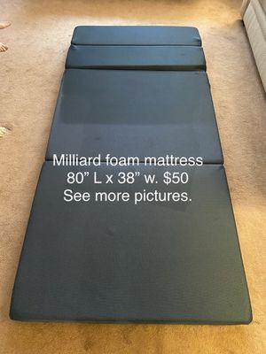 Millibars foam mattress for Sale in Columbia, SC