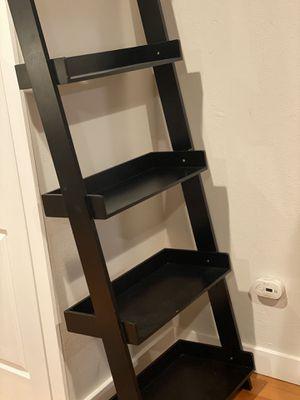 Leaning Ladder Shelf - black for Sale in Auburn, WA