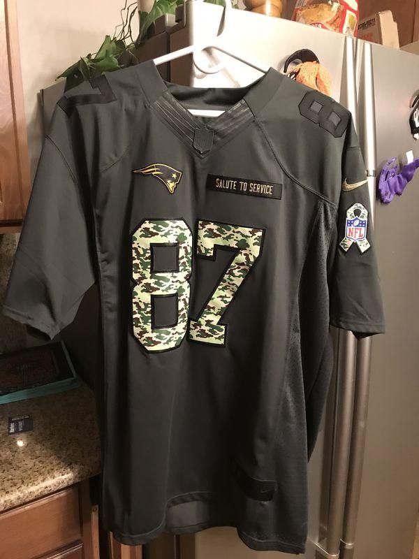 New England Patriots Rob Gronkowski Salute To Service Jersey