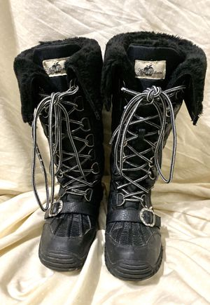 Women's Apple Bottoms Natalia Quilted Boots - Black (Size 6 1/2 Fit like A Size 7) (Firm Price - Great Price) for Sale in Carrollton, TX