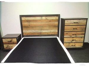 New!! 2 Drawer Nightstand,Bedroom,Queen Bed,Tall Chest,Furniture,3Pc Bed Set-QUEEN SIZE for Sale in Phoenix, AZ