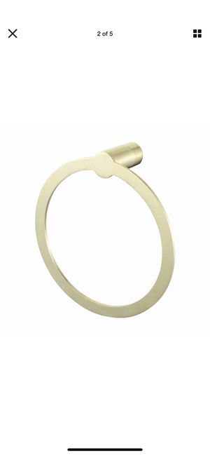 Towel ring brushed gold for Sale in San Bruno, CA