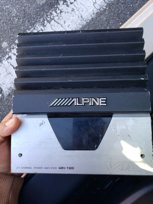 Alpine 2 Channels Amp for Sale in Fort Washington, MD