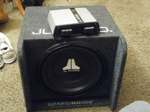 JL Audio amp and 12 speaker for Sale in Tacoma, WA