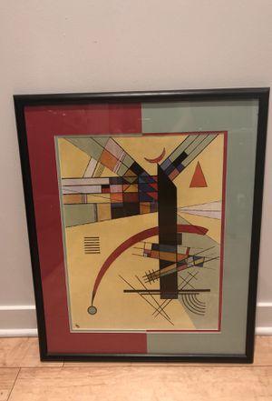 Abstract art, framed, modern for Sale in Phoenix, AZ