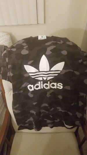 Bape x Adidas camo shirt size large for Sale in Walnut Creek, CA
