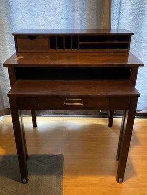 Solid Hardwood Modern Secretary Desk Roll Out Desk for Sale in Oceanside, CA