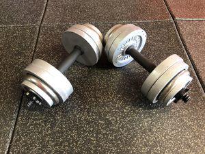 Adjustable Dumbbells 💪🏻 Set 30 lbs Each for Sale in Santa Clarita, CA