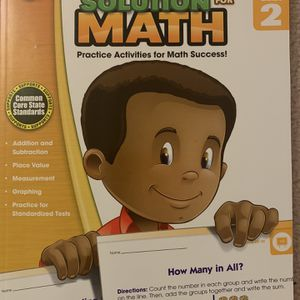 Second Grade Brand New Math and Reading Practice Book Each $5 Total $10 for Sale in Rockville, MD