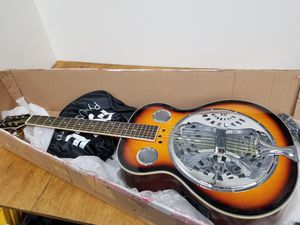 """Pyle Resophonic Acoustic Electric Guitar - 39.5"""" 6 String Sunburst Mahogany Tr for Sale in Westminster, CA"""