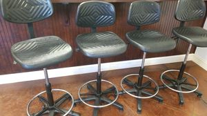 Bar stools , adjustable 4 for sale for Sale in Lake Alfred, FL