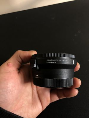 Sigma MC-11 mount converter lens adapter Sigma EF mount for Sale in Boston, MA