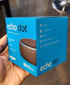 Brand New Sealed in Box Amazon Echo Dot Smart Speaker 3rd Generation Wifi Bluetooth Alexa for Sale in Los Angeles, CA