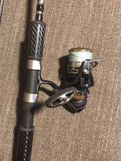 lamiglas x11 10-20 lb and diawa exceler 4000 spinning reel for Sale in Tigard,  OR