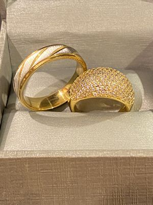 18K Gold plated Wedding /Engagement Ring Set -Code BZ010 for Sale in Los Angeles, CA