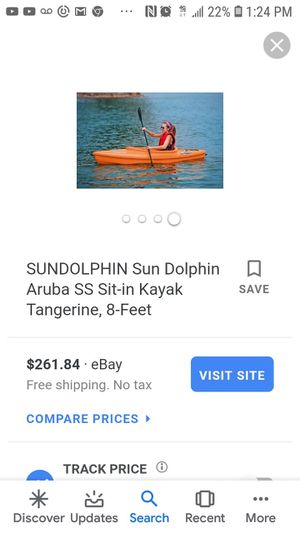 2 Sun Dolphin Aruba 8' 1 Person Sit-In Kayak in Tangerine Orange with On-Board Storage for Sale in North County, MO