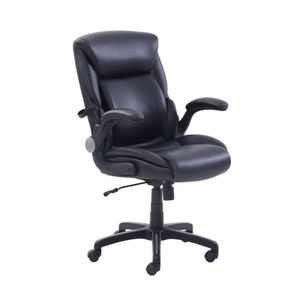 Serta Air Lumbar Bonded Leather Manager Office Chair, Black for Sale in Las Vegas, NV