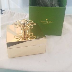 NEW KATE SPADE 24KT GOLD PLATED Jewelry box for Sale in Tracy, CA