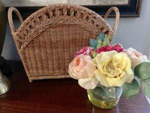Boho | Rattan | Magazine Rack | Wicker | Storage | Bathroom | Organization for Sale in Siler City, NC