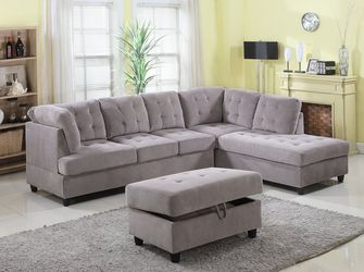 *Brand New Couch* (Lowrance 112 Sectional Sofa with Storage Ottoman, Left & Right facing sleepers sectional for Sale in Orange,  CA
