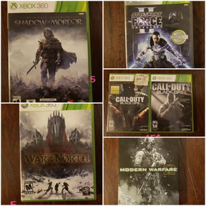 5 xbox 360 games for Sale in Keller, TX