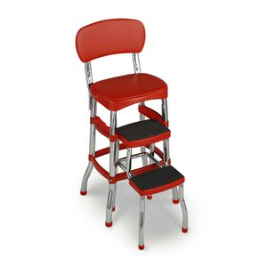 Cosco Red Retro Counter Chair / Step Stool for Sale in Houston, TX
