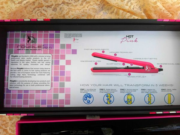 Hair straightener made by ROYAL ! Pink lace