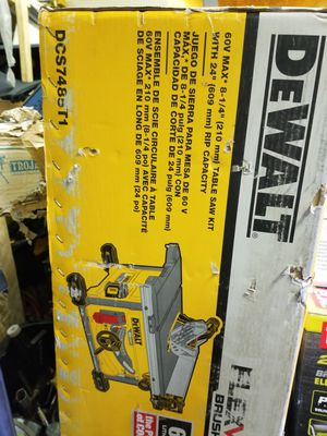 Dewalt flex volt dcs7485t1 table saw kit for Sale in Brockton, MA