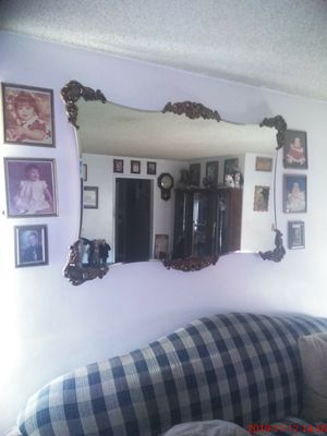 Wall Mirror ...3 ft x 5ft has wood corners and it's beautiful ... for Sale in Montebello, CA