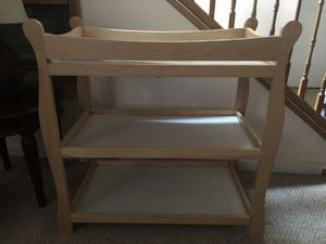Sleigh style baby changing table for Sale in Olney, MD