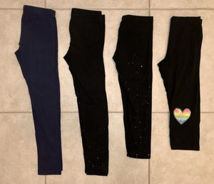Little girls size 7/8 stretch pants and capris for Sale in Port St. Lucie, FL