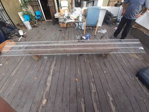 white metal shelving 16in depth by 12ft long for Sale in Bakersfield, CA