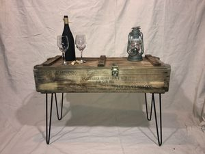 Vintage antique ammunition box sofa table/console table for Sale in Acworth, GA