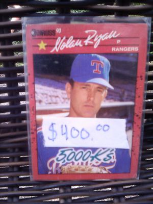 Rear and I think Nolan Ryan baseball cards, like mint condition. Must see! for Sale in Seattle, WA