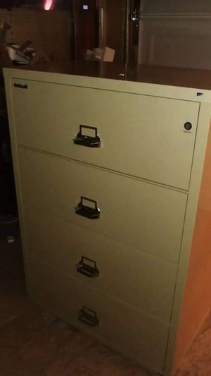 "FireKing 4 Drawer 44"" Wide 1 hour rated lateral fihreproof cabifih for Sale in San Jose, CA"