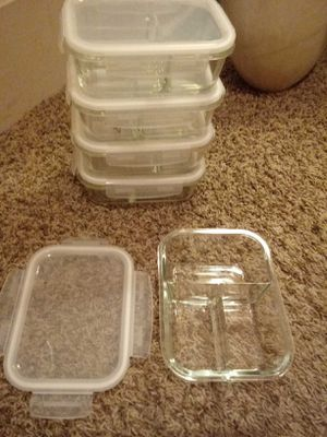 Glass Bowls with locking lids for Sale in Bloomington, IL