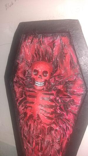 Red coffin skeleton for Sale in San Antonio, TX