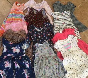 Girls dress clothing bundle h & m unicorn heart top 4 t for Sale in Rancho Cucamonga, CA