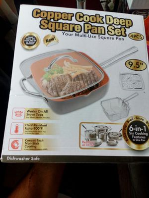 Copper cook deep square pan set for Sale in E RNCHO DMNGZ, CA