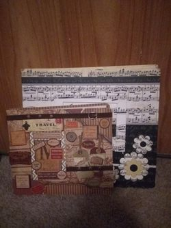 2 Beautifully Decorated Scrapbooks. They Also Come With 40 Pages Of Decorative Scrapbooking Paper for Sale in Ocala,  FL