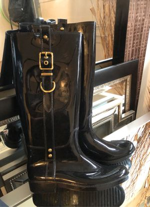 COACH rain boots for Sale in Middletown, NJ