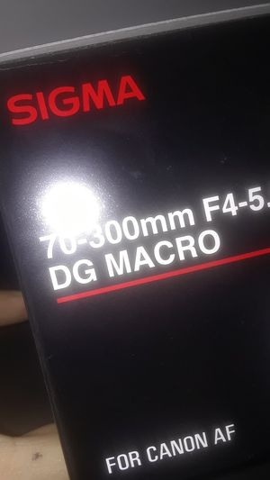 Sigma 70-300mm F4-5.6 DG MACRO for Sale in Baltimore, MD