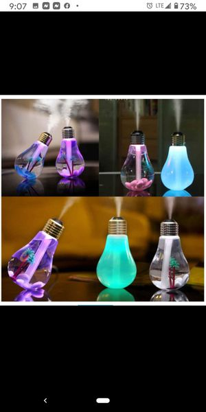 Ultrasonic humidifier for essential oils w/ LED night light for Sale in Apache Junction, AZ