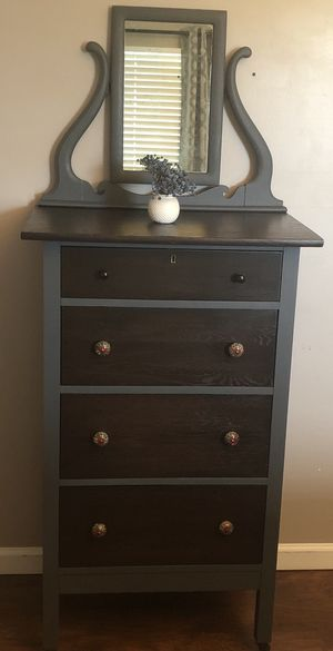 Refinished Dresser with Mirror for Sale in Blacklick, OH