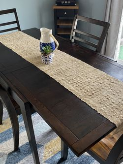 Dark Wood Adjustable Dining Table & Four Chairs Set for Sale in San Diego,  CA
