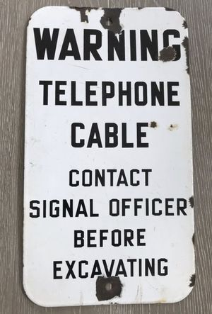 Original US Military Army Signal Officer Sign for Sale in Seattle, WA