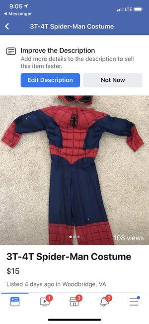 Spiderman costume 3T-4T for Sale in Woodbridge, VA