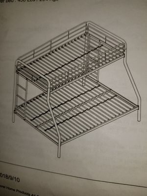 Metal bunk bed twin/full for Sale in Sunnyvale, CA